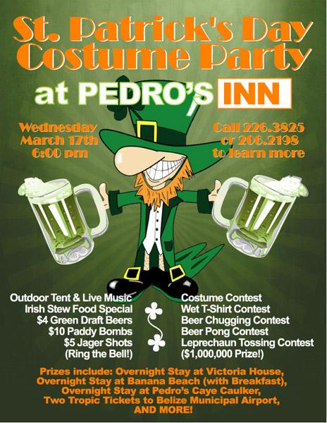 Pedro's Inn St. Patrick's Day Costume Party