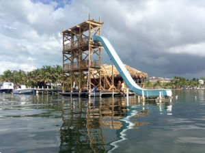 Waterslide Ambergris Caye
